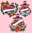 Anchor navy tattoo vector image