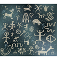 ancient petroglyphs vector image