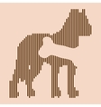 Animal hungry icon vector image