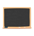 blackboard chalk and eraser school supplies vector image