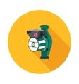 flat icon hydraulic pump vector image