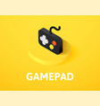 gamepad isometric icon isolated on color vector image