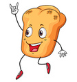 Roll of bread vector image