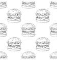 Seamless pattern with sketched burger vector image
