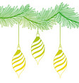 silhouette oval balls hanging merry christmas vector image