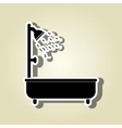 tub service design vector image