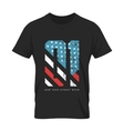 Vintage American flag old t-shirt vector image vector image
