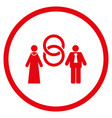 marriage persons rounded icon vector image