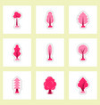 set of labels with shadow leafs icon design vector image
