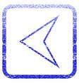 arrowhead left framed textured icon vector image