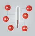 thermometer icon temperature vector image