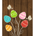 Easter background with eggs vector image vector image