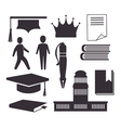 Academic education design vector image