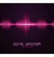 digital waveform vector image vector image