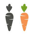 Carrot icon cartoon style isolated on white vector image vector image