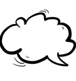 black and white freehand drawn cartoon cloud vector image vector image