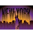 New York City and Statue of Liberty vector image vector image