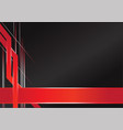 abstract sharp metallic frame red black vector image