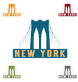 Brooklyn Bridge in New York city design template vector image