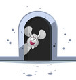 cute cartoon mouse on white background vector image