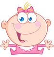 Happy Baby Girl With Open Arms vector image