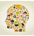 Head food vector image
