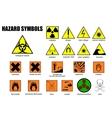 international symbols of danger vector image