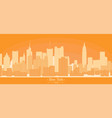 linear banner of new york city buildings vector image