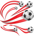 peru flag with soccer ball vector image