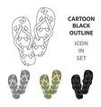 summer rubber flip flopsflip flops single icon in vector image