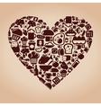 Heart food vector image vector image