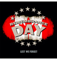 Lest we forget text memorial vector image