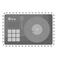 turntable music icon image vector image