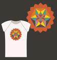 Star Tetrahedron logo design for a t shirt vector image