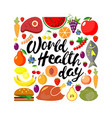 world health day concept square banner vector image