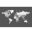 detailed worldmap gray background vector image