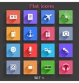 Flat Application Icons Set 6 vector image