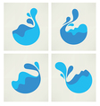 water emblems vector image vector image