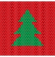 Christmas Knitted background with tree vector image