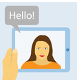 tablet communication vector image vector image