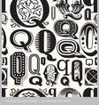 seamless vintage pattern letter Q vector image