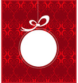 Christmas frame design vector image