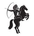 Indian on horseback vector image
