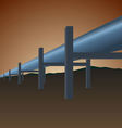 Gas pipe vector image