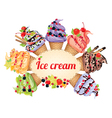 Ice cream different tastes vector image