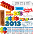 2013 logo collection and calendar vector image