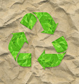 Cardboard Crushed Paper With Recycle Sign vector image
