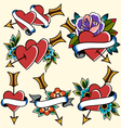 classic vintage heart tattoo vector image