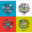 line icons of science ecology medicine education vector image