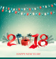 New year background with gift boxes and colorful vector image